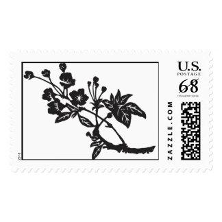 Cherry Blossom Branch in black Postage