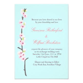 Cherry Blossom Branch Invitation (Blue)