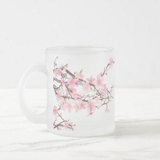 Cherry Blossom branches frosted mug