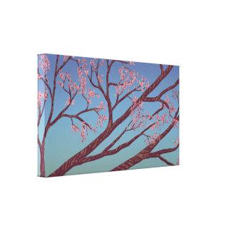 Cherry Blossom Branches - Nature Art Canvas 24x14 Canvas Print