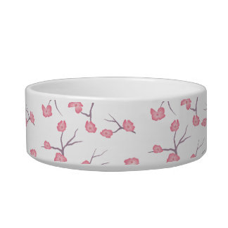 Cherry Blossom Branches Pet Bowl