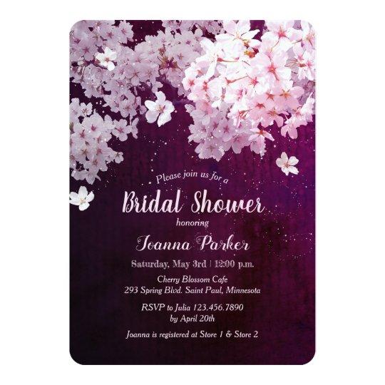 6a87d8c864f6 Cherry Blossom Bridal Shower Invitation