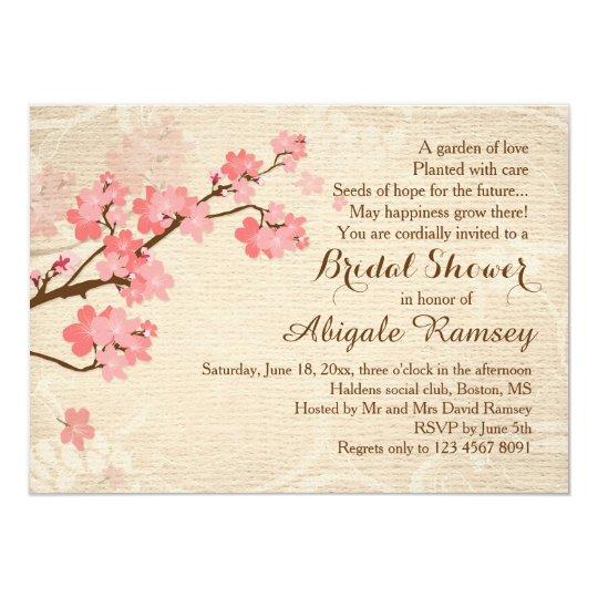edd19fdfb4a7 Cherry blossom Bridal Shower Invitation