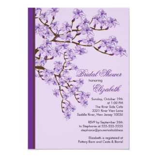 "Cherry Blossom Bridal Shower Invitation 5"" X 7"" Invitation Card"