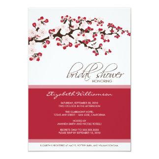 Cherry Blossom Bridal Shower Invitation (crimson)