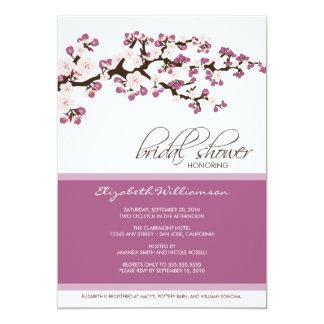 "Cherry Blossom Bridal Shower Invitation (lavender) 5"" X 7"" Invitation Card"