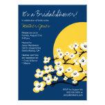 Cherry Blossom Bridal Shower Invitation - Navy