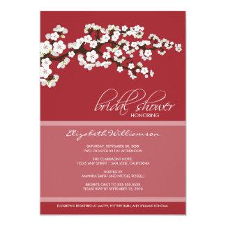 Cherry Blossom Bridal Shower Invitation (red)