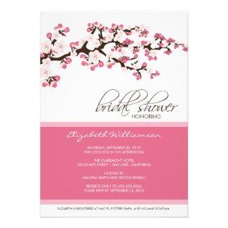 Cherry Blossom Bridal Shower Invitation (rose)