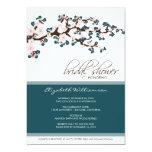 Cherry Blossom Bridal Shower Invitation (teal)