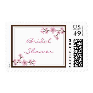 Cherry Blossom Bridal Shower Stamps