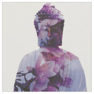 Cherry Blossom Buddha Fabric