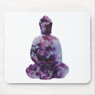 Cherry Blossom Buddha Mouse Pad