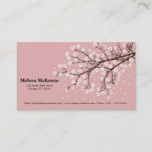 Japanese cherry blossom business cards zazzle cherry blossom business card colourmoves