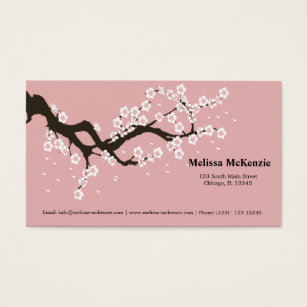 Cherry blossom business cards forteforic cherry blossom business cards colourmoves