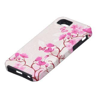 Cherry Blossom Butterflies 2 iPhone SE/5/5s Case