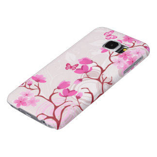 Cherry Blossom Butterflies 2 Samsung Galaxy S6 Cases