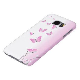 Cherry Blossom Butterflies Samsung Galaxy S6 Cases