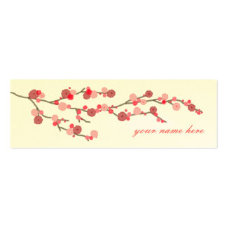 Cherry Blossom Calling Cards Business Card Templates