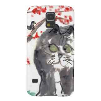 Cherry Blossom Cat and Bird Galaxy Nexus Cover