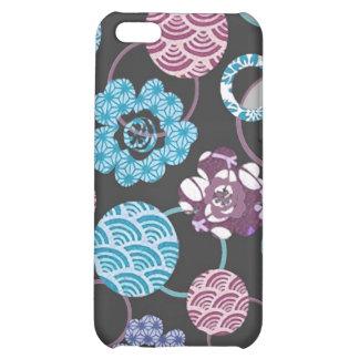 cherry blossom circles Japanese modern springtime iPhone 5C Case