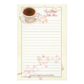 Cherry Blossom Coffee Stationery