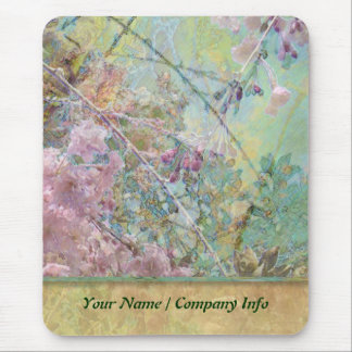 Cherry Blossom Collage Custom Mouse Pad