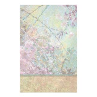 Cherry Blossom Collage Light Stationery Design