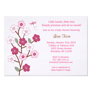 Cherry Blossom Custom Baby Shower Invitations