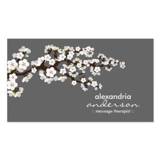 Cherry Blossom Custom Business Cards (grey)