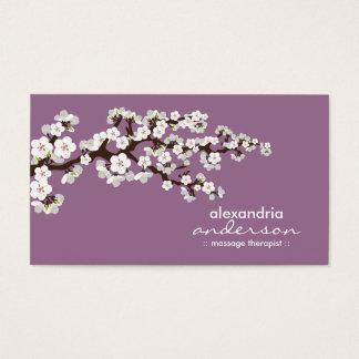 Cherry Blossom Custom Business Cards (lavender)