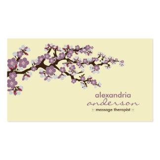 Cherry Blossom Custom Business Cards (purple)