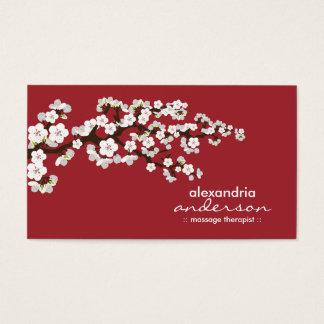 Cherry Blossom Custom Business Cards (red)