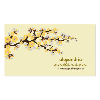 Cherry Blossom Custom Business Cards (yellow)