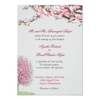 "Cherry Blossom Custom Wedding Invitations 4.5"" X 6.25"" Invitation Card"