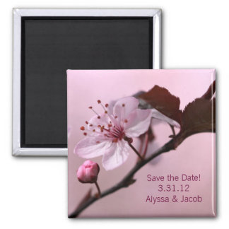 Cherry Blossom Customizable Save the Date Magnet