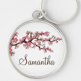 Cherry Blossom Customized Keychain (pink)
