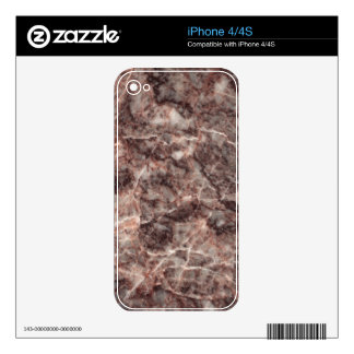 Cherry Blossom Decorative Stone - Veined Stunner iPhone 4 Decals