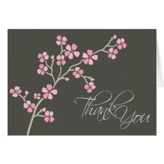 Cherry Blossom Designer Thank You Card (pink)