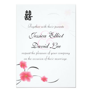 Cherry Blossom Double Happiness Wedding Collection Card