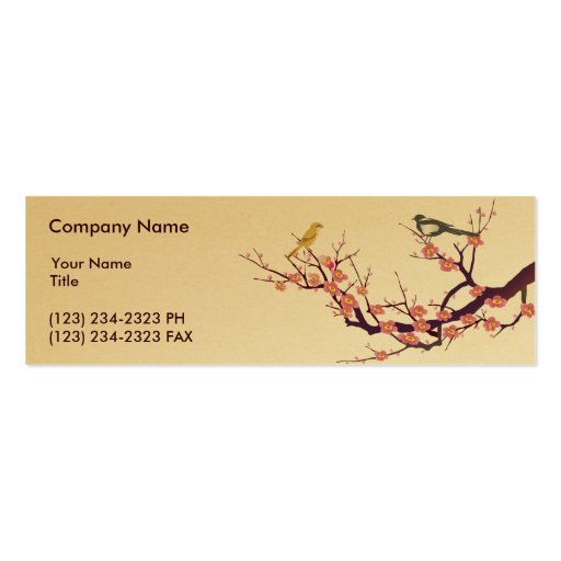 Cherry Blossom Double-Sided Mini Business Cards (Pack Of 20)
