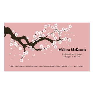 Cherry Blossom Double-Sided Standard Business Cards (Pack Of 100)