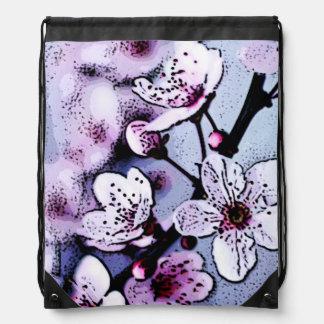 Cherry blossom drawstring bags