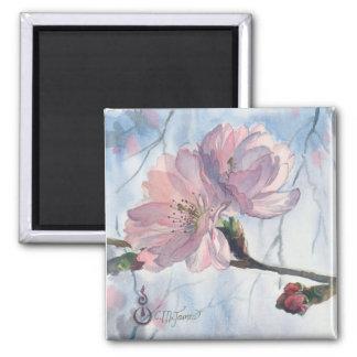 """""""Cherry Blossom Duet""""  Art Magnet"""