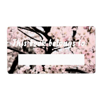 Cherry Blossom Edited Booklabel Label