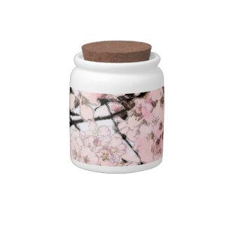 Cherry Blossom Edited Candy Jars