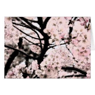 Cherry Blossom Edited Card