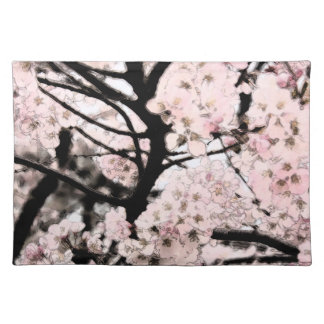 Cherry Blossom Edited Cloth Placemat