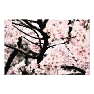 Cherry Blossom Edited Craft Paper Stationery