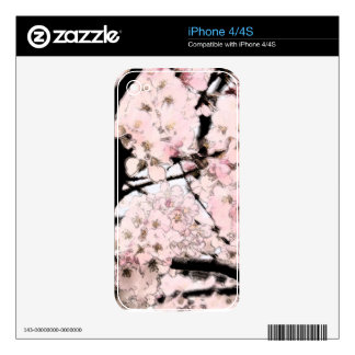 Cherry Blossom Edited iPhone 4 Decal